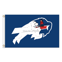 Buffalo Bills Flag Team Colors Super Bowl Champions 3 X 5ft Banner Custom Bills Flags Banner Stand Colours(China)