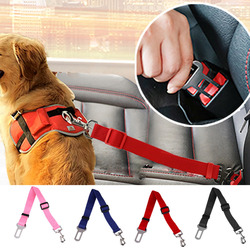 43-70 см ошейник, поводок ремней безопасности автомобиля ремень безопасности для машины жгут зажим контакта Pet Товары для собак рычаг предохр...