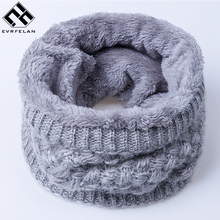2017 New Winter Women Scarf  For Man/Women Thickened Knitted Scarves Fashion Warm Unisex Ring Scarf Winter Cotton Neck Scarf
