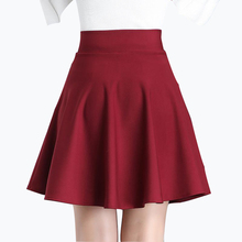 Buy 2018 Spring Autumn Women Pleated Mini Skirt Plus Size High Waist Slim Line Skirt Autumn Japan Style Mini Skirt for $9.49 in AliExpress store