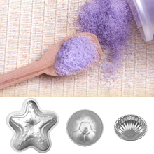 Behokic 3 Pairs 3 Shapes Starfish Shell Football Cupcakes Baking Cups Bath Bomb Molds for DIY Crafting Cake Pan Molds