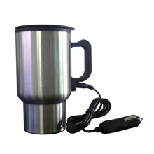 Hot Products Stainless Steel Car Mug Water Cup 12V Car Cup Heater Tea Coffee Water Auto Electric Heater Mug Best Gifts(China)