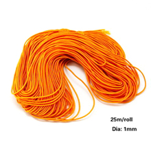 Wholesale 25 Meters candy Color Waxed Cotton Beading Cord elastic Rope 1mm For DIY Bracelet Necklace Jewelry 10 Colors