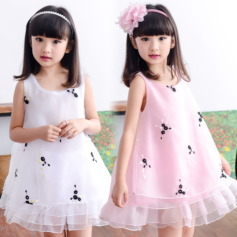 Cuhk children children show clothing baby girls vest dress sleeveless dress girl summer veil<br><br>Aliexpress