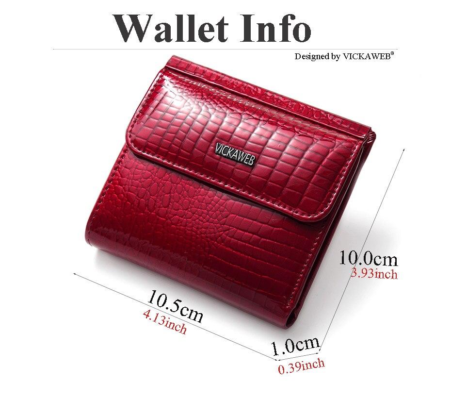 VICKAWEB Mini Wallet Women Genuine Leather Wallets Fashion Alligator Hasp Short Wallet Female Small Woman Wallets And Purses-AE209-002