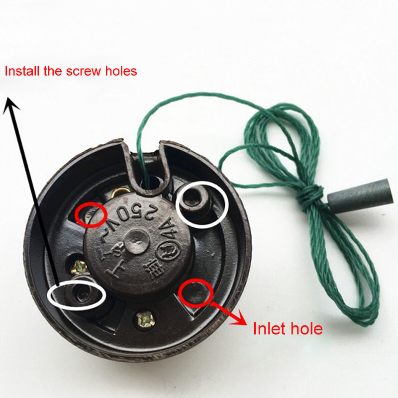 Retro Type Flat Mounted Toggle Switch Socket Old Style Inverted Switch Socket Bedside On/off Table Lamp Pull Line Switch