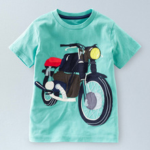 sale Retail new Brand 2017 new Blouse boys t shirt kids clothing 100%cotton childrens clothes Summer short tee Cartoon dinosaur