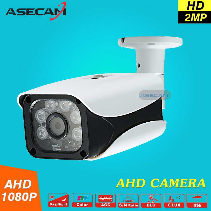 New AHD Camera HD 1080P Waterproof Outdoor 6* Array infrared Security Camera 2MP AHDH System Video Surveillance With Bracket<br>