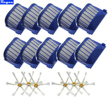 Brand New Total 16 PCS 10x Aerovac Filters & 6x 6-Armed Side brush For iRobot Roomba 500 600 Series Wholesale Free Post