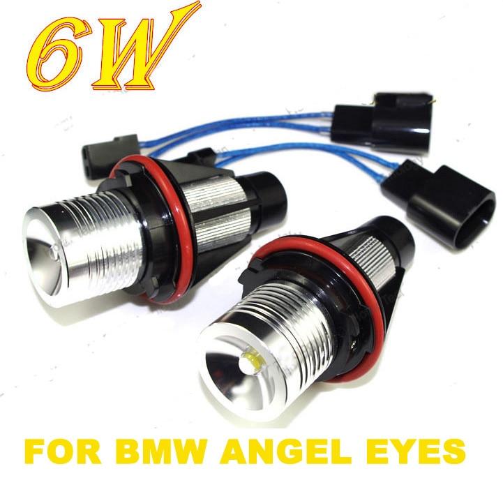 Angel Eyes for BMW 1 Set 12V 6W*2 12W White/Blue LED Marker CREE Chip E39 E59 E53 E60 E31 E63<br><br>Aliexpress