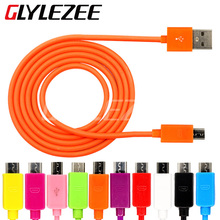 Universal Android USB Cable Micro USB Port Battery Charging Data Transfer 10 Colors for Samsung HTC LG Xiaomi Huawei