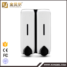 Bathroom Accessories Manufacturer hotel manual double shower shampoo dispenser