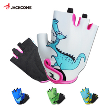 JACKCOME Kids Cycling Gloves Half Finger Shockproof Breathable MTB Road Bicycle Gloves Luva Ciclismo Children Mitten KG12302