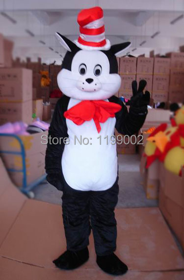 Hot sale Cartoon Character Adult Adult Magic Cat Mascot Costume Halloween party costume Free shipping
