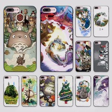 Studio Ghibli Spirited Away Totoro design hard black Case Cover for Apple iPhone 7 6 6s Plus SE 5 5s 5c 4 4s(China)