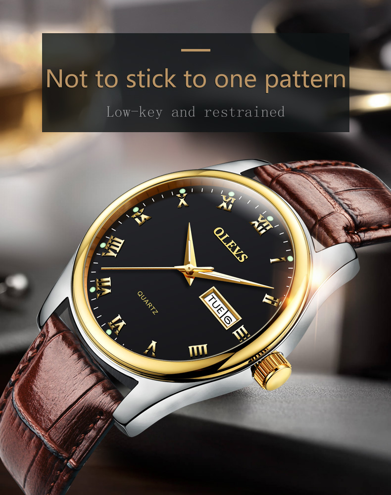 HTB1B9LwjyAKL1JjSZFoq6ygCFXau - OLEVS Luxury Men Gold Watches High Quality Watch Men's Quartz Date Clock Male Week Display Wristwatch Steel relogio masculino