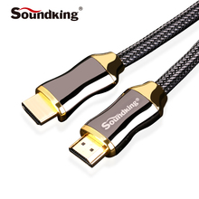 Soundking HDMI Cable 2.0 2k*4k Audio Video HDMI to HDMI Male Cable 3D for PS3 Projector HD TV STB Laptop 1.5/2/3/5M B47(China)
