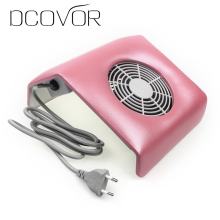 220V Nail Art Salon Suction Dust Collector Manicure Filing Acrylic UV Gel Tip Machine Vacuum Cleaner Salon Tool EU Plug