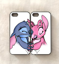 2pcs/lot love stitchs boy girl pair BFF best friends soft cell phone cases shell for iphone 6 6s 6 Plus 5s 5c 4s 7 7plus cover