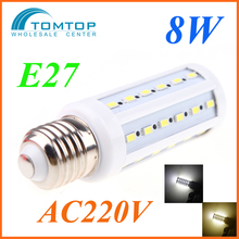 E27 8W 5730 SMD 42 Led Corn Bulb Lamp Energy Saving Light 360 Degree (AC 220V) Warm White home office and exhibition lighting