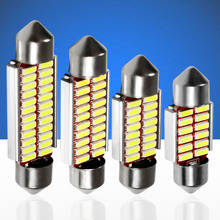 10pcs 31mm 36mm 39mm 42mm C5W 4014 LED CANBUS NO ERROR Car Festoon Dome Interior LED Lights Lamp Auto Map Roof Reading Bulbs 10X