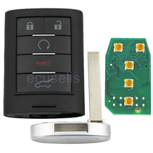 Intelligent Card Smart Remote Key 5 Button 315 MHZ For Cadillac SRX,XTS,ATS