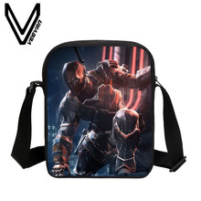 VEEVANV Brand 2017 Arkham Origins Image 3D Print Messenger Bags Casual PU Crossbody Bag for Women School Bags for Children Study