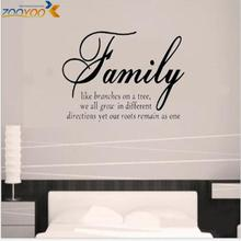 family like branches home decor creative quote wall decals zooyoo8082 decorative adesivo de parede removable vinyl wall stickers