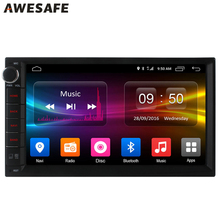 2 Din Car DVD Radio Player 7 inch Android 6.0 Universal For Nissan gps Stereo Audio 1024*600 WIFI Quad Core support 4G