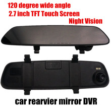 best selling 120 degree wide angle 2.7inch TFT Car Rearview Mirror DVR Video Recorder Free Shipping