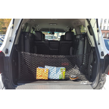 110*40cm Dual Layer Mesh Storage Net Car Trunk Cargo Organizer with 4 Hooks Auto Accessory(China)