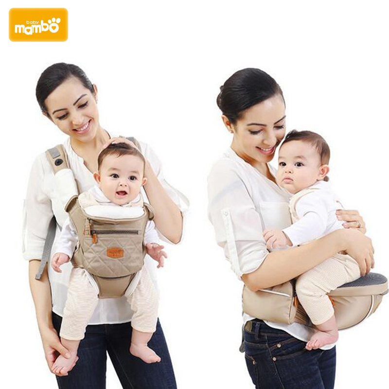 Mambobaby Ergonomic 5 in 1 Baby Carrier Backpack Breathable Cotton Sling For Baby Wrap Rider Canvas Front Backpack<br>