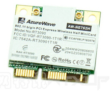 AzureWave AW-NE762H RT3090 150Mbps 802.11b/g/n Half Mini PCIe PCI-Express Wlan Wireless Wifi Card(China)