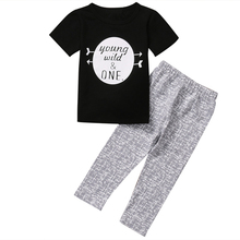 Buy Cotton Letter Tops Romper +Pants Newborn Infant Baby Boy Girl 2017 new arrival fashion Outfits Clothes Sunsuit Age 0-3Y for $5.45 in AliExpress store