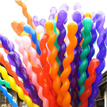 20PCS/Lot Screw Twisted Latex Balloon Spiral Thickening Long Balloon Bar KTV Party Supplies Strip Shape Balloon Inflatable Toys