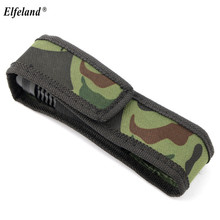 16cm waterproof Camouflage Holster Holder Case Belt High quality Pouch Protector For Most LED Flashlight Torch(China)
