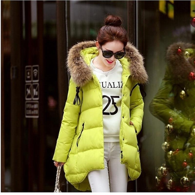 2017 Women Duck Down Jacket Large Fur Collar Thickening Hooded Women Down Parkas Plus size Women Winter Coat Down JacketsОдежда и ак�е��уары<br><br><br>Aliexpress