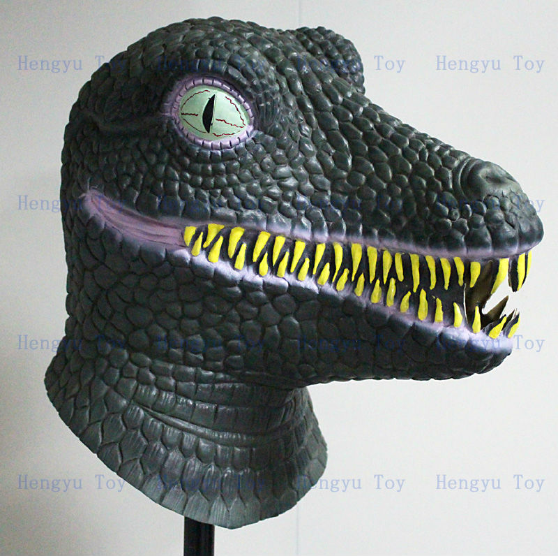 Amusement Park Artificial Animatronic Latex Dinosaur Mask For Sale(China)