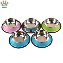 Indoor Pet Dog bowl Dry Food Cat Bowls for Dogs Bowls Drinking Water Fountain Pet Dog Dish Feeder Goods Dropshiping(China)
