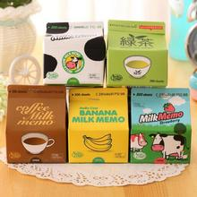 Milk Box Extraction Memo Portable Milk Coffee Creative Notepad Post It Nota De Papel Cute Stationery Sticky Notes Papeleria(China)