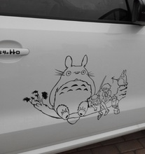 DIY Car Decoration Stickers Waterproof Japanese Lovely Totoro Series Anime Angel Beats Drift Racing Decal Stickers Door