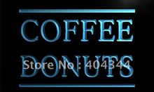 LK658- Coffee Donuts Cafe OPEN Dispaly LED Neon Light Sign(China)