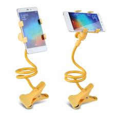 Universal flexible holder Arm Lazy Mobile Phone Gooseneck Stand Holder Stents Flexible Bed Desk Table Clip Bracket For iphone