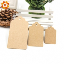 50PCS 3 Sizes Kraft Paper Tags Paper Labels Card Tag For DIY Christmas/Wedding /Party Favors Scrapbooking Kraft Gift Tags
