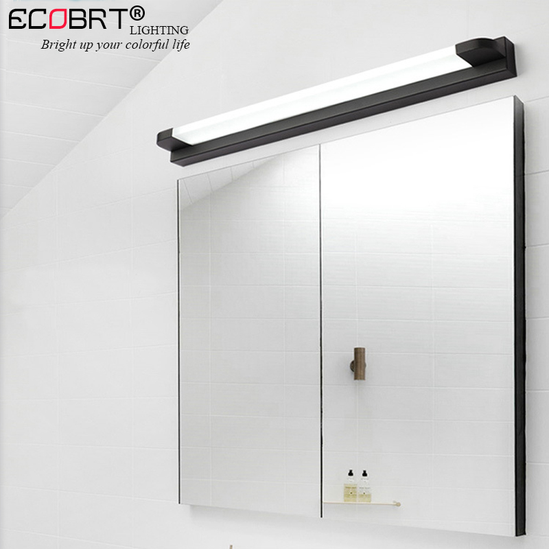 ECOBRT Modern Mirror Light led Bathroom Vanity Wall Lamp Makeup Dressing Table Mirror Cabinet lamp Black/White Color