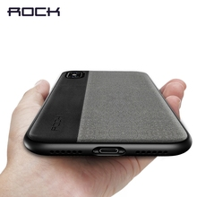 For iPhone X Case, ROCK Slim Full Protective Phone Leather Case for iPhone X Back Cover for iPhoneX Thin Protector Shell(China)
