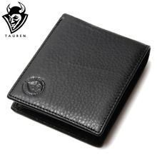 Men Wallet Promotion Excellent Genuine Cow Leather Black For Office Man Men's Vintage Wallets