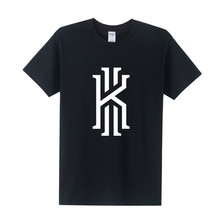 New Kyrie Irving Logo T Shirt Men T Shirts 2017 Summer Cotton Short Sleeve Kyrie Irving T Shirt Tops Tee Free Shipping