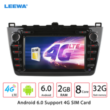 "8"" Android 6.0 (64bit) DDR3 2G/32G/4G LTE Car DVD GPS Radio Head Unit For Mazda6 (GJ;2008~2012) #CA4526-F8"