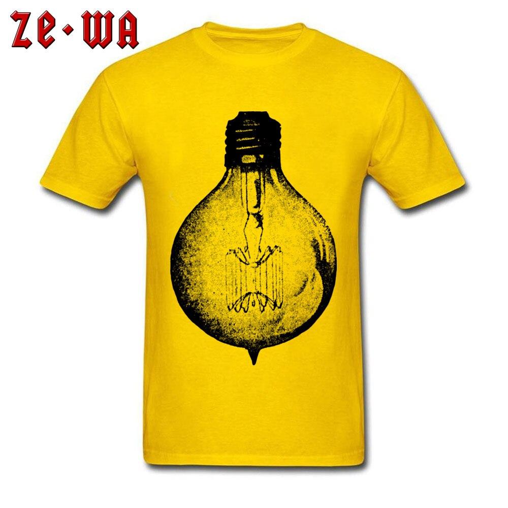 vintage light bulb 2417764_960_720 T Shirt for Men Printed On Summer/Fall Tops T Shirt New Design T Shirt O Neck Pure Cotton vintage light bulb 2417764_960_720 yellow
